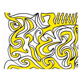 Angelical ligero creativo libre postal