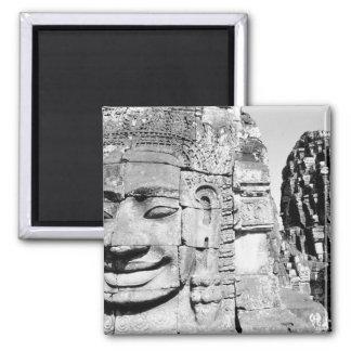 Angkor Camboya, cabezas el Bayon Imán Cuadrado