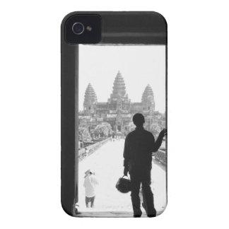 Angkor Camboya, entrada y persona Angkor Wat iPhone 4 Case-Mate Cárcasas