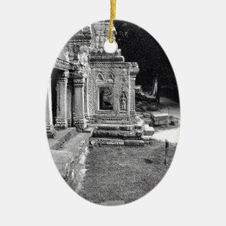 Angkor Wat Adorno Navideño Ovalado De Cerámica