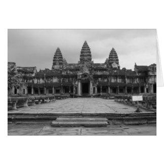 Angkor Wat B&W Tarjeta De Felicitación