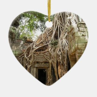 Angkor Wat Camboya Adorno De Cerámica En Forma De Corazón