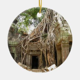 Angkor Wat Camboya Adorno Redondo De Cerámica