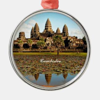 Angkor Wat, Camboya Adorno Navideño Redondo De Metal