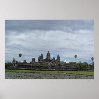 Angkor Wat en Siem Reap, Camboya Póster