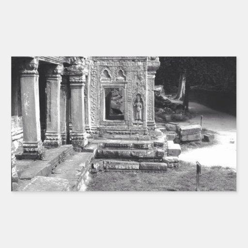 Angkor Wat Rectangular Pegatina