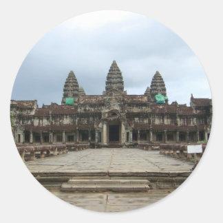 Angkor Wat Pegatina Redonda