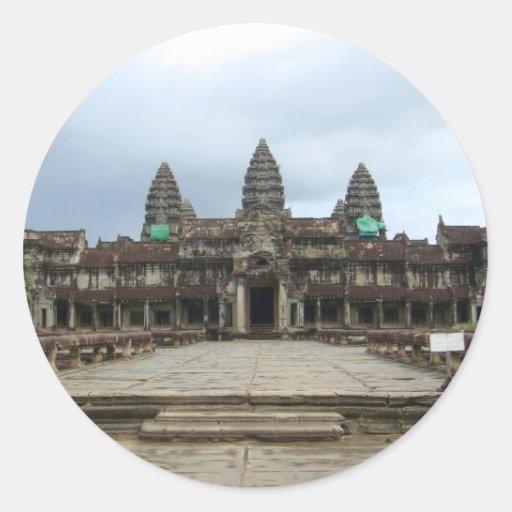 Angkor Wat Etiquetas Redondas