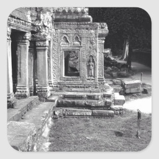 Angkor Wat Pegatina Cuadrada
