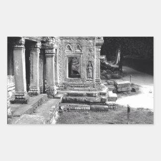Angkor Wat Pegatina Rectangular