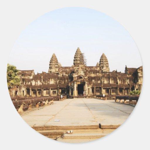 Angor Wat Pegatinas Redondas
