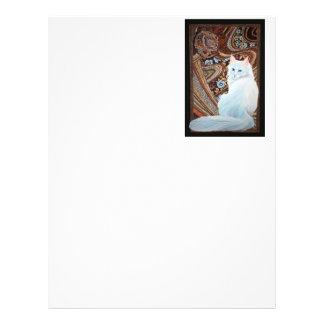 Angora turco blanco folleto 21,6 x 28 cm