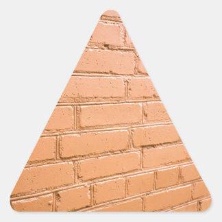 Ángulo de visión en la pared de ladrillo pegatina triangular