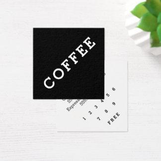 Ángulo oscuro de la tarjeta perforada del café de