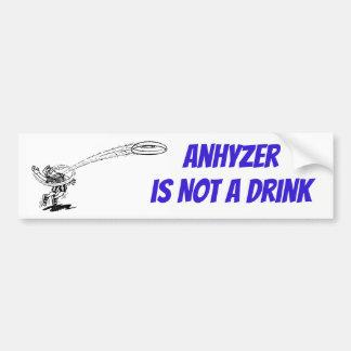 Anhyzer no es pegatina de la bebida