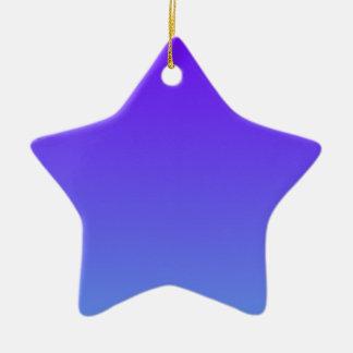 Añil eléctrico a la pendiente azul de H'l del Adorno De Cerámica En Forma De Estrella