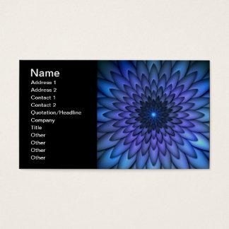 Añil y arte abstracto púrpura de la flor tarjeta de negocios
