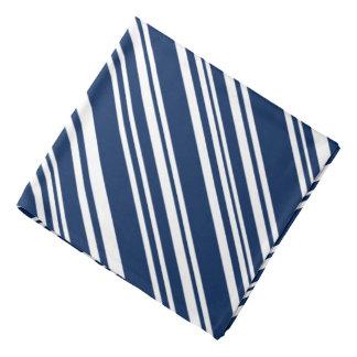 Añil y pañuelo blanco de las rayas del caramelo
