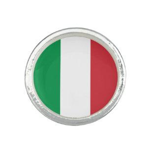 Anillo Bandera italiana patriótica
