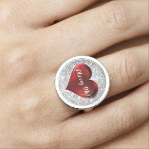 Anillo cardíaco de propuesta matrimonial