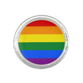 Anillo Con Foto Bandera del arco iris