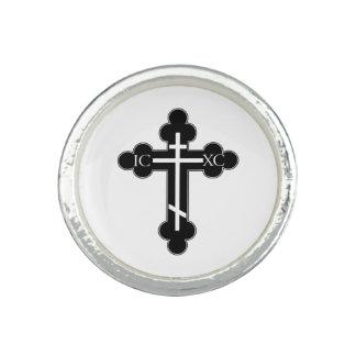 Anillo Cruz ortodoxa
