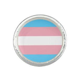 Anillo de la bandera del orgullo del transexual