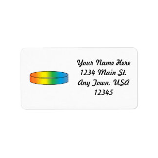 Anillo del arco iris etiqueta de dirección