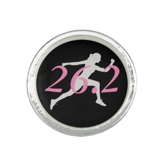 Anillo del maratón, regalo para el corredor, 26,2