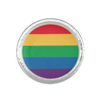 Anillo del orgullo de la bandera del arco iris