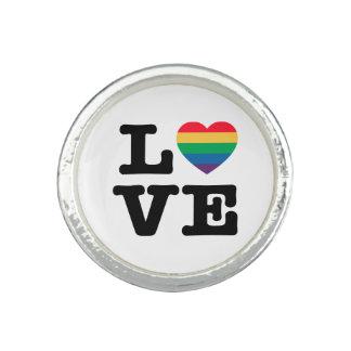 Anillo del orgullo del corazón del amor