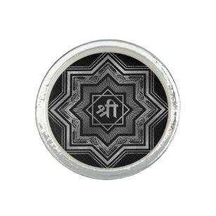 Anillo Estrella de plata de Lakshmi - de Ashthalakshmi y