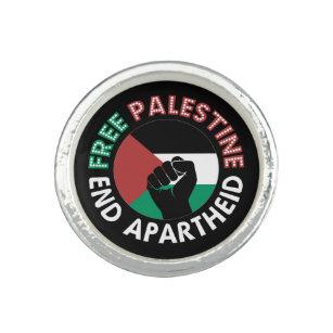 Anillo Palestina Libre pone fin a la bandera del Aparthei