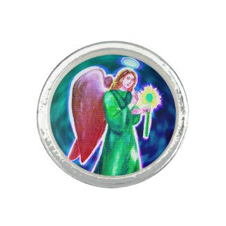 Anillo plateado de la plata esterlina de Raphael