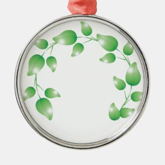 Anillo verde de la guirnalda de la hoja ornamento de navidad