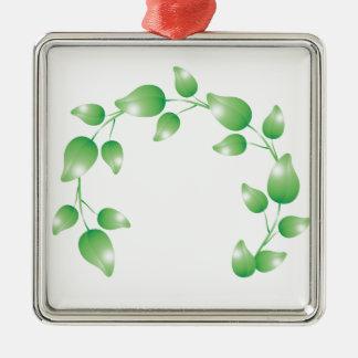 Anillo verde de la guirnalda de la hoja adorno
