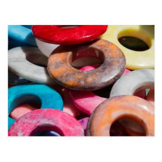 anillos coloreados decorativos postal