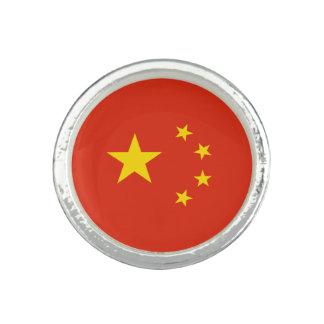 Anillos Con Foto Bandera china patriótica