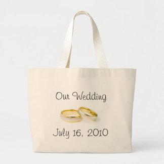 Anillos de bodas bolsas de mano