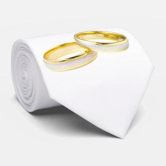 Anillos de bodas del oro en blanco corbata personalizada