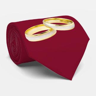 Anillos de bodas del oro en Borgoña Corbatas