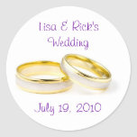 Anillos de bodas etiqueta redonda