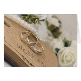 anillos de bodas tarjeta de felicitación