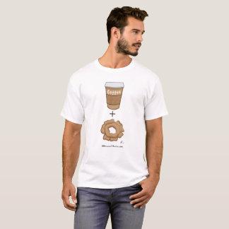 Anillos de espuma y camiseta del coche del café