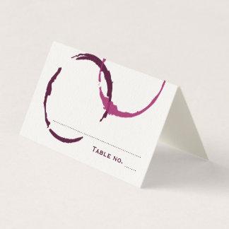 Anillos de la mancha del vino de la tarjeta el  