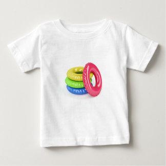 Anillos de la nadada camiseta de bebé