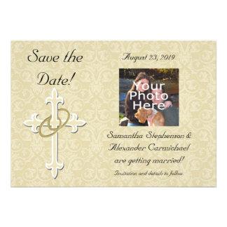 Anillos de oro con la cruz amor cristiano elegant