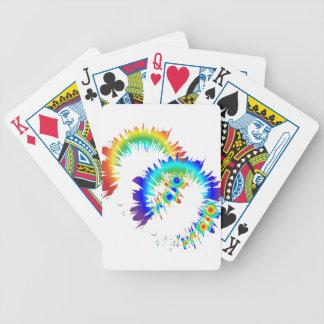 anillos del arco iris baraja de cartas bicycle