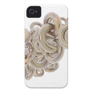 Anillos del oro Case-Mate iPhone 4 coberturas