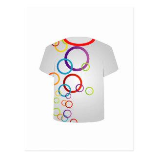 Anillos del Plantilla-fractal de la camiseta Postal